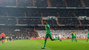 Real Sociedad's Alexsandar Isak struck two times in as many minutes at the Bernabeu