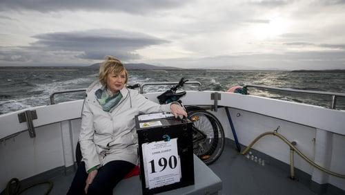 Presiding Officer Nancy Sharkey travels to Gola Island with the ballot box