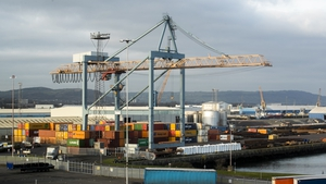 The point of entry inspection points at ports including Belfast (pictured) are required under the terms of the Northern Ireland Protocol