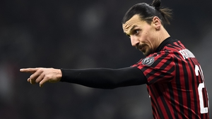 Zlatan Ibrahimovic could be back training in less than two weeks