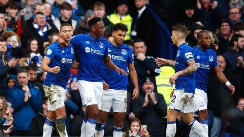Richarlison (left) scored Everton's second