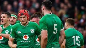 Josh van der Flier scored Ireland's third try
