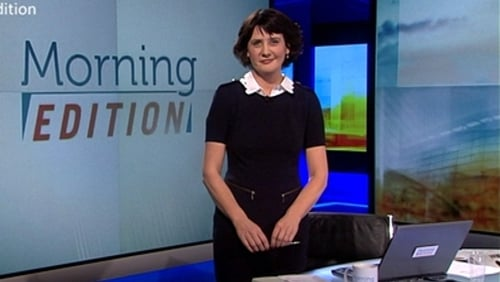 Keelin Shanley on the set of Morning Edition in 2013