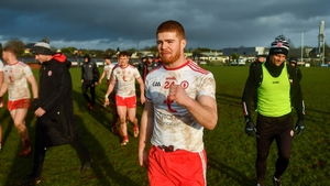 Tyrone's Cathal McShane celebrates after the full-time whistle