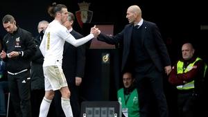 Zinedine Zidane (R) recalled Gareth Bale to the starting XI