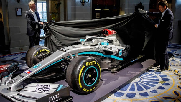 Ineos chairman Jim Ratcliffe and TotoWolff reveal Mercedes' new livery for the 2020 season