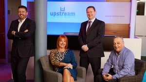 Alan Wardlow, Upstream's sales director; Judith Totten owner and managing director; Aidan Dolan, Head of Business Development and Colin Dundas, Finance Director at Upstream