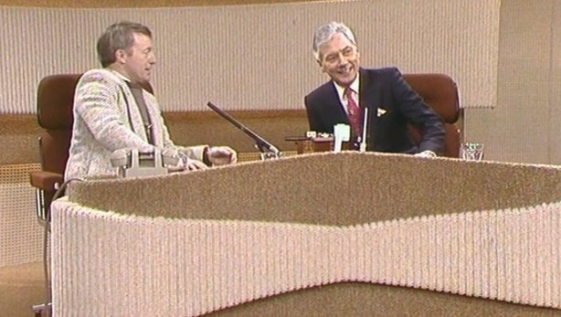 Paul Daniels and Gay Byrne on The Late Late Show (1985)