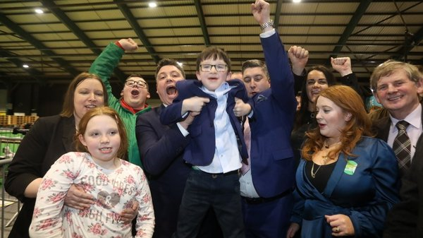 Fianna Fáil's Paul McAuliffe celebrates his election in Dublin North-West (Pic RollingNews.ie)