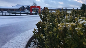 Punchestown Racecourse tweeted out an image of the wintry looking Kildare venue on Tuesday morning
