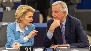 Ursula von der Leyen and Michel Barnier