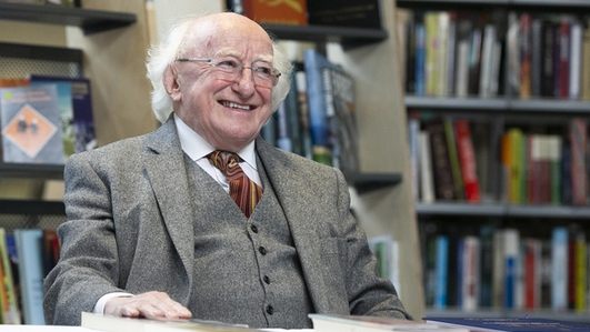 President Michael D. Higgins addresses country through the local media