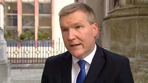 Michael McGrath said the stimulus plan will focus on protecting jobs (file image)