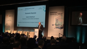 Central Bank Governor Gabriel Makhlouf was speaking at the European Financial Forum