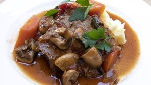 Beef Pot Roast with Mushrooms & Red Wine