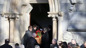 Keelin Shanley's funeral was held at St Paul's Church in Glenageary