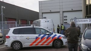 The scene of one of the letter bomb attacks in Amsterdam