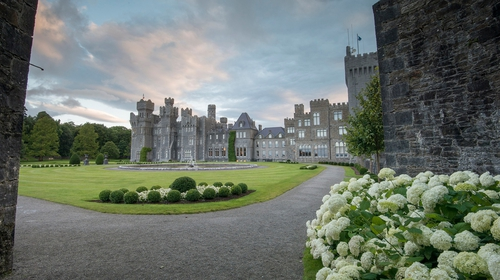 Ashford Castle is set in a 350-acre estate in Cong, Co Mayo