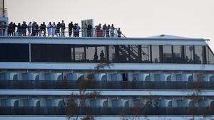 Passengers on board the Westerdam