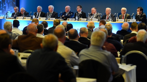 The top table and delegates at the 2019 Congress