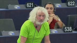 Mick Wallace made the remark at a European Parliament meetingabout the Venezuelan presidential crisis