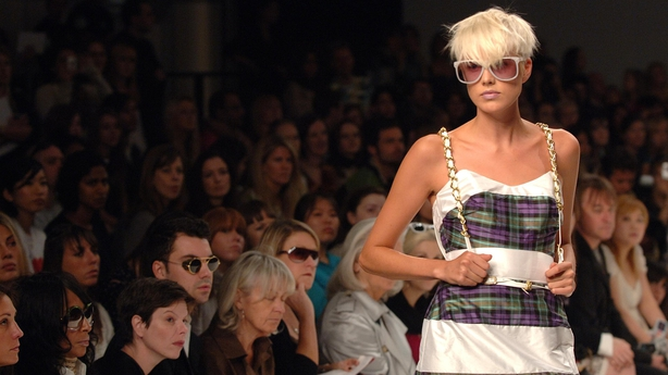 Agyness Deyn wears a creation by designers PPQ in September 2007 (Joel Ryan/PA)
