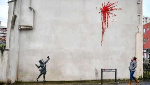 Banksy confirmed the piece by posting two images of it on his official Instagram account and website
