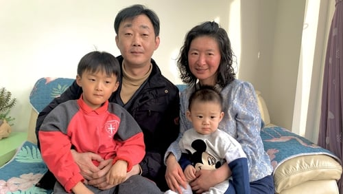 Lina Song was reunited with her 1-year-old son Noah today