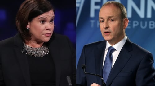 Mary Lou McDonald and Micheál Martin had a 15-minute phone call this afternoon