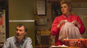 Tommy Tiernan as Gerry and Tara Lynne O'Neill as Ma Mary in Derry Girls Photo: Channel 4