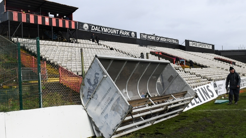 Dalymount Park has been buffeted by high winds