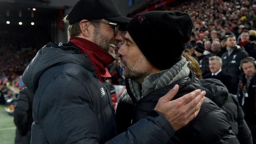Liverpool boss Jurgen Klopp admitted he feels for Man City counterpart Pep Guardiola after City's European ban.