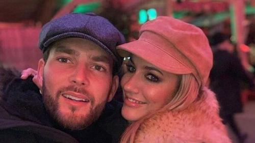 Caroline Flack with boyfriend Lewis Burton