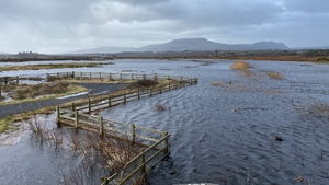 Fields in the Tullaghan/Bundoran area have been flooded after the River Drowes burst its banks