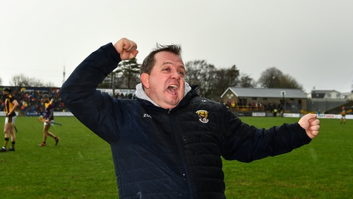 Who says the league means nothing? Davy Fitz celebrates at the end