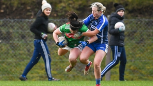 Rachel Kearns of Mayo in action against Waterford's Megan Dunford in Swinford