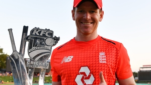 Eoin Morgan scored 57 not out to clinch a series win for England