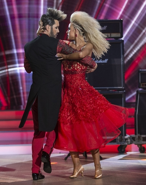 Brian Dowling and Laura Nolan danced the Tango to Prince's When Doves Cry