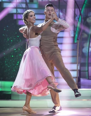 Gráinne Gallanagh and Kai Widdrington danced the Quickstep to Taylor Swift's Paper Rings