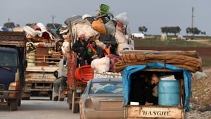 Syrian civil war has caused over 800,000 people to flee the Idlib and Aleppo provinces since December
