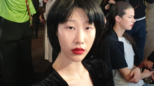 MAC make-up artist Lucy Bridge shares her tips backstage at Roland Mouret.