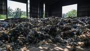 Plastic waste at an abandoned factory in Jenjarom, outside Kuala Lumpur, in March last year