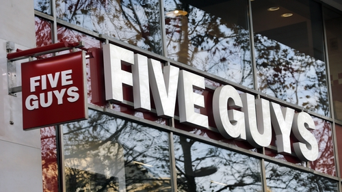 Five Guys operates four outlets around Dublin