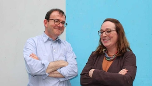 Lecturer Professor Hugh Campbell with series consultant editor Dr Ellen Rowley in Nano Nagle Place, Cork