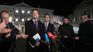 Leo Varadkar said if Sinn Féin fails to form a government, then the onus passes to Fianna Fáil