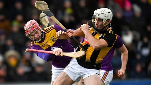 Michael Carey of Kilkenny and Paudie Foley of Wexford battling for possession last weekend