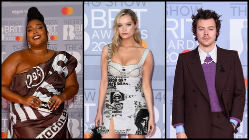 All the red carpet fashion from the 2020 Brit Awards.