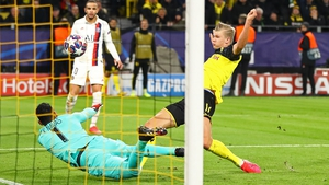 Erling Haaland opens the scoring in Dortmund