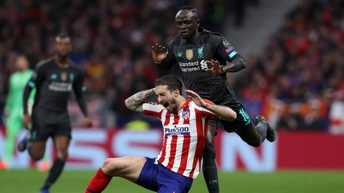 Vrsaljko (C) and Mane (R) clashed repeatedly in Madrid