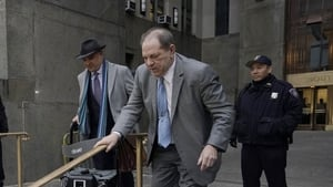 Harvey Weinstein leaving court after day one of the jury's deliberations